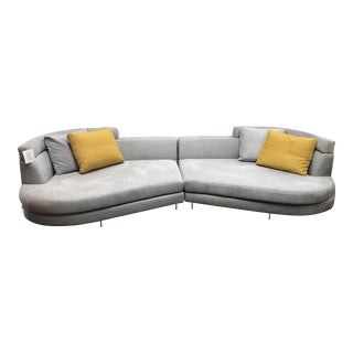 Oakley Custom 2 Piece Sectional with Pillows by DellaRobbia For Sale