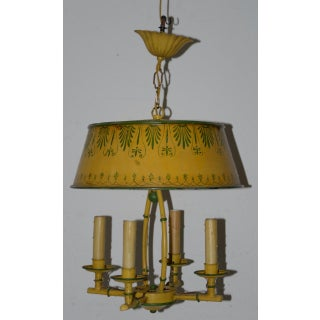 Vintage Hand Painted Toleware Four Light Chandelier C.1930 Preview
