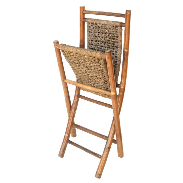 Folding Bamboo Chairs For Sale In New York - Image 6 of 11