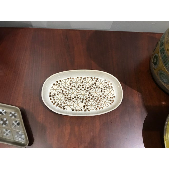 Mid-Century Modern Mid Century Pottery Dish For Sale - Image 3 of 7