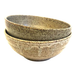 1970s Stoneware Bowls, a Pair For Sale