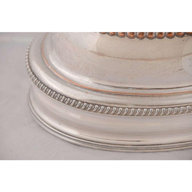 English Traditional Pair of English Silver Domes For Sale - Image 3 of 8