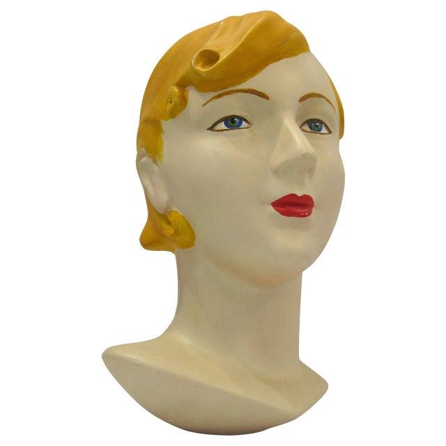 Blonde Vintage Mannequin Head - Image 1 of 6