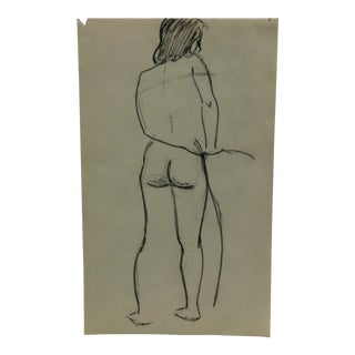 """Vintage Original Drawing on Paper, """"Around Back"""" by Tom Sturges Jr., Circa 1945 For Sale"""