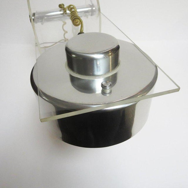 Lucite and Chrome Table or Desk Lamp For Sale - Image 4 of 10