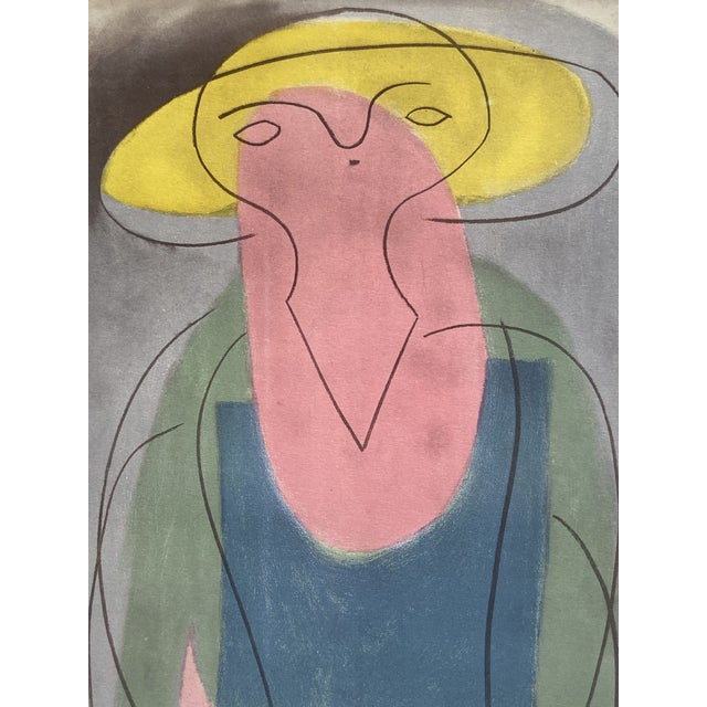 "This is an extraordinarily RARE Pablo Picasso collotype with pochoir, titled ""Woman with Yellow Hat"". This particular..."