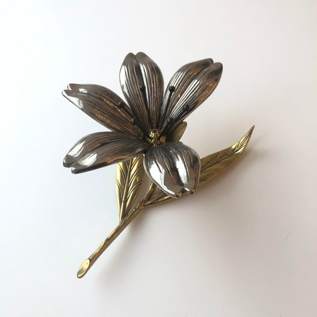 Antique Flower Sculpture With Removable Petals (Missing on petal) Antique Vintage Art Piece. Removable petals can create...
