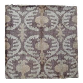 Purple Silk Velvet Throw Pillow For Sale