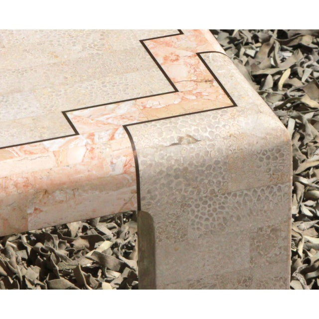 Maitland Smith Era Tessellated Marble Coffee Table For Sale In Providence - Image 6 of 8