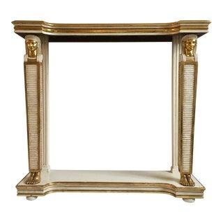 Antique Egyptian Revival Parcel-Gilt White Painted Console Table For Sale