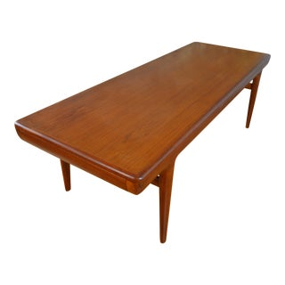 Johannes Andersen for Cfc Silkeborg Danish Modern Teak Extension Coffee Table For Sale