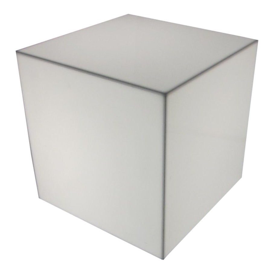 Exceptional Pair Of Interior Lit Acrylic Cube Side Tables DECASO - Acrylic cube side table