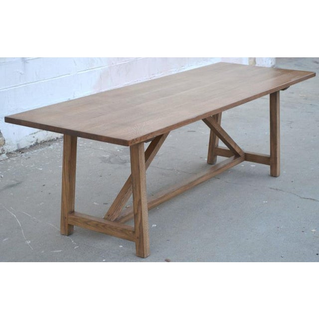 Petersen Antiques Rift White Oak Dining Table For Sale - Image 10 of 11