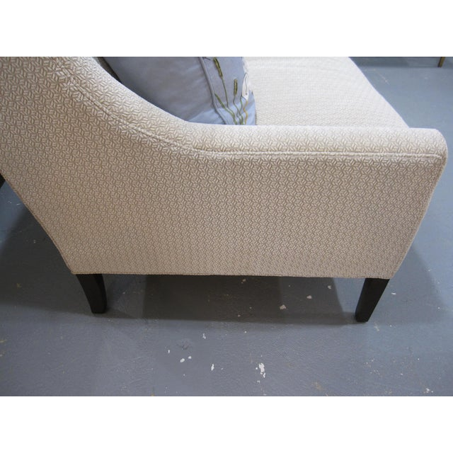 2010s Hickory White Upholstered Loveseat Sofa For Sale - Image 5 of 7