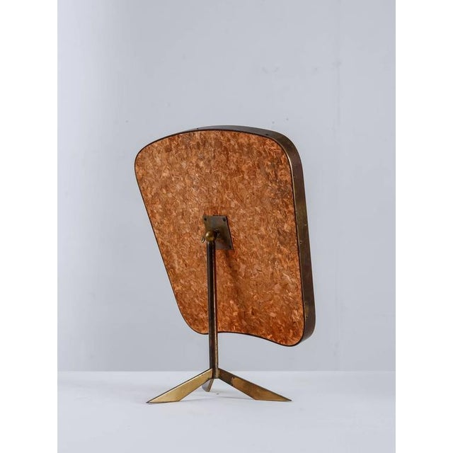 Modern Brass console mirror on tripod foot, Germany, 1950s For Sale - Image 3 of 7