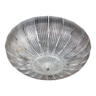 Exquisite Barovier & Toso Textured Glass Flush Mount Chandelier For Sale
