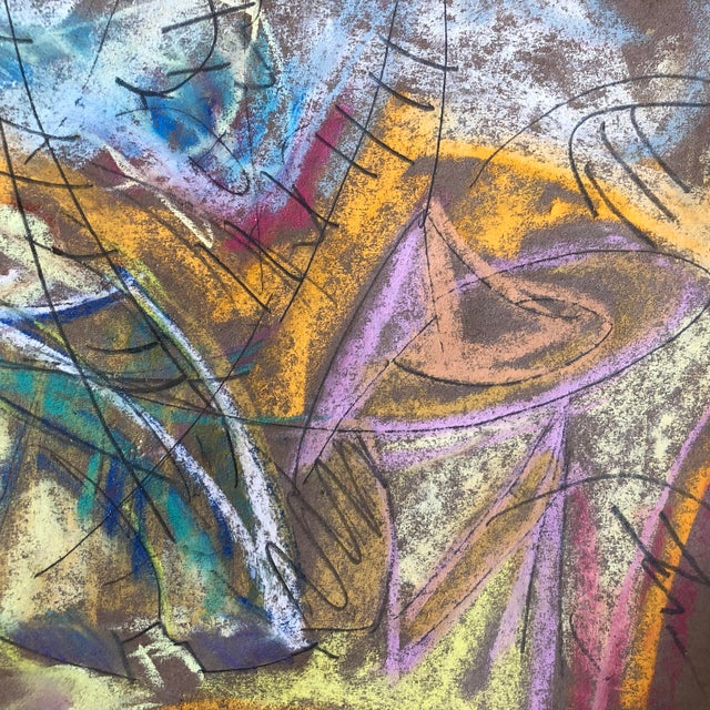 """""""Southern Hospitality"""" an Original Pastel on Paper by Erik Sulander Abstract 13.5x12.5, Signed, unframed"""