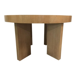 Cerused Oak Dining Table With Two Extensions For Sale