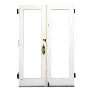 Panel Glass Entry Doors - A Pair