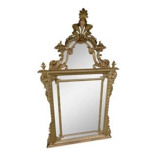La Barge Italian Carved Gilt Wood Frame Mirror For Sale
