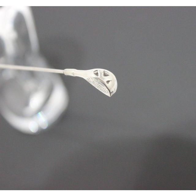 Metal Baccarat Crystal Golfer Figurine For Sale - Image 7 of 9