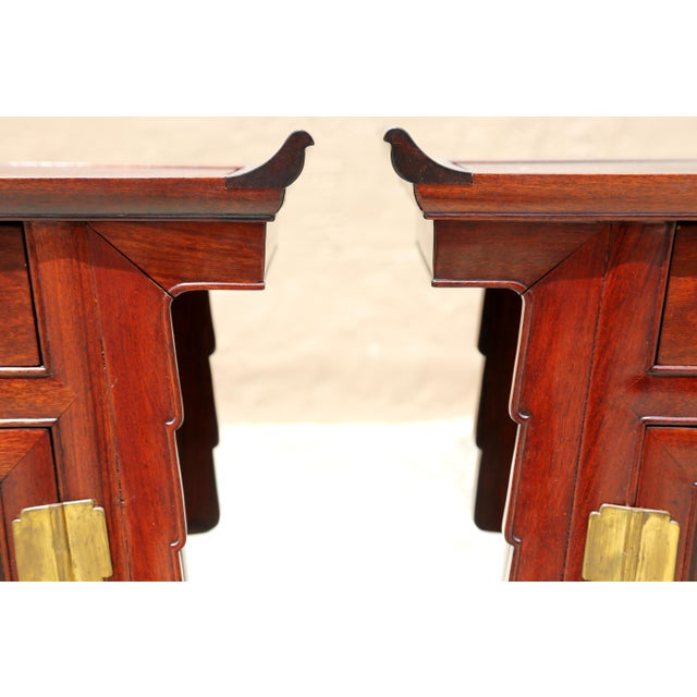 1980s Chinoiserie Carved Wood Pagoda Sidetables - a Pair For Sale In Tampa - Image 6 of 13