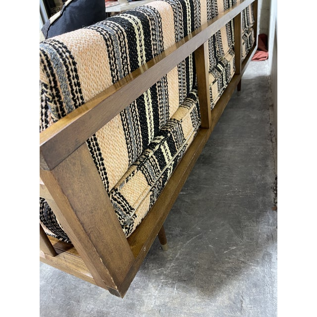 Mid Century Walnut Sofa Daybed Yugoslavia For Sale - Image 9 of 11