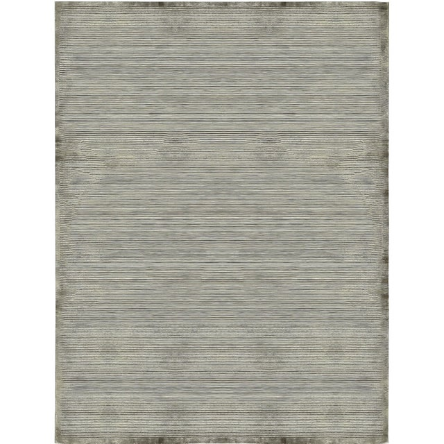 Contemporary Hand Woven Rug - 9'2 X 12'2 For Sale - Image 4 of 4