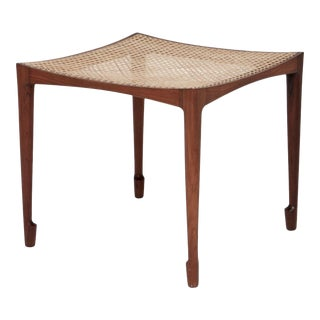 Vintage Mid Century Bernt Petersen Rosewood Stool For Sale