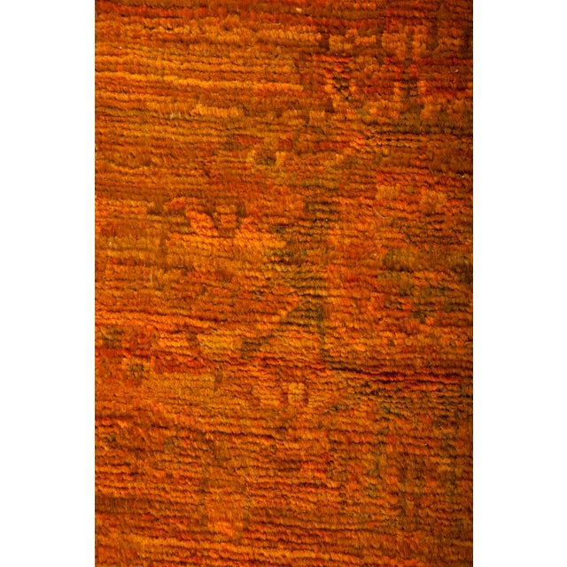 Modern Orange Runner Rug For Sale - Image 3 of 4