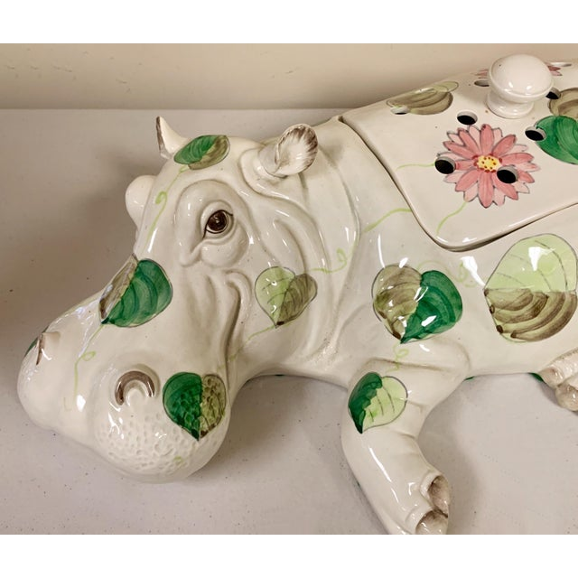 Fitz and Floyd Fitz & Floyd Hippo Serving Piece / Flower Frog For Sale - Image 4 of 9
