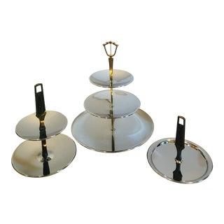 Kromex Serving Trays - Set of 3 For Sale