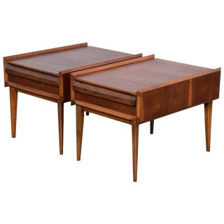 Pair of Mid-Century Modern Andre Bus Designed End Tables For Sale