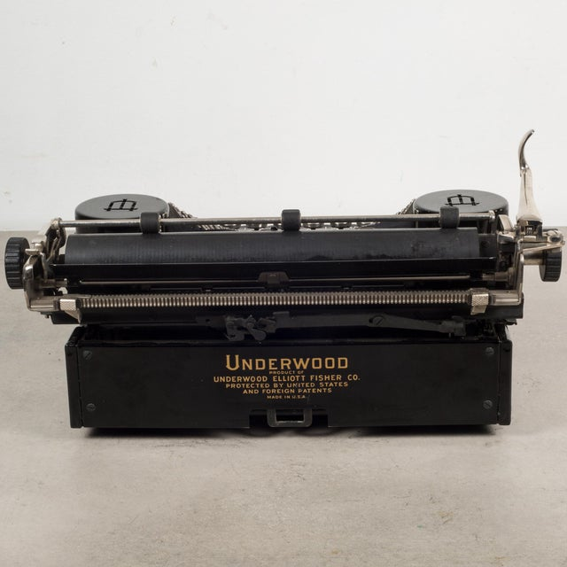 Early 20th Century Antique Underwood Universal Portable Four Bank Typewriter C.1935 For Sale - Image 5 of 12