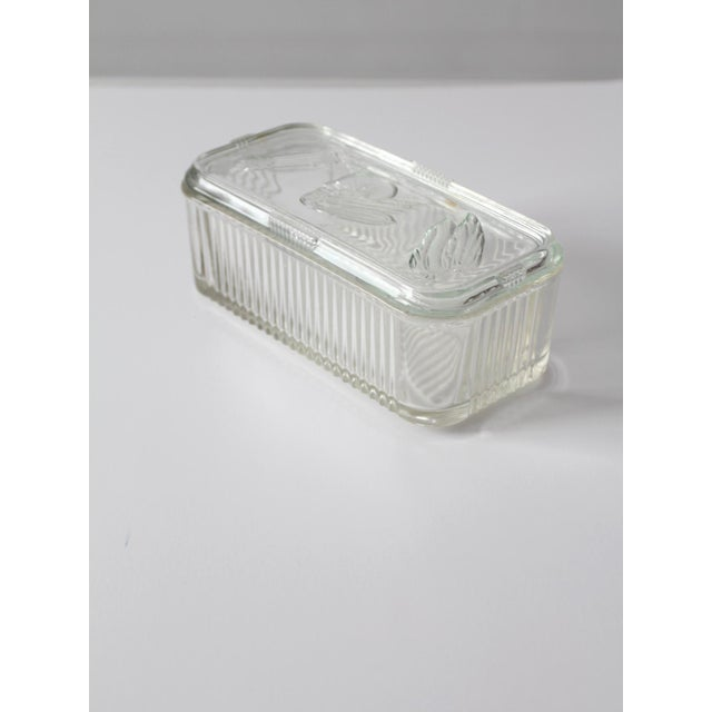Depression Glass Refrigerator Dish For Sale - Image 5 of 9