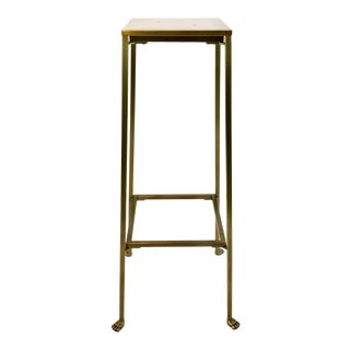 Arteriors Modern Pygmalion Brass and White Marble Pedestal/Stand For Sale