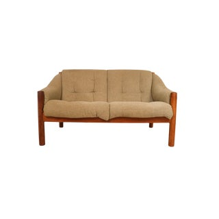 Mid Century Danish Teak Domino Mobler Loveseat Sofa For Sale