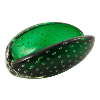 1950s Erickson Emerald Clam-Shell Ashtray