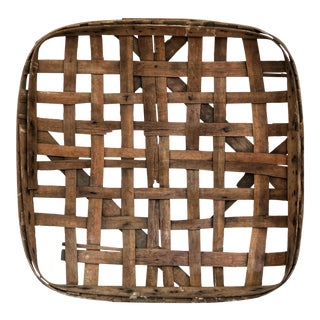 Antique Owensboro Kentucky Tobacco Basket For Sale