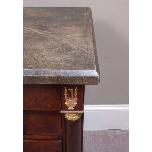 Empire Empire Commode with Faux Marble Top For Sale - Image 3 of 9