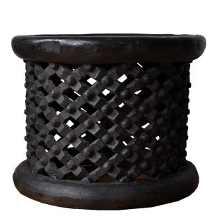 African Bamileke Small Side Table For Sale