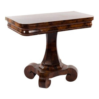 19th Century Victorian Mahogany Flip Top Gaming Table For Sale