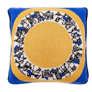Maison Leleu - Mirror Blue Cashmere Pillow For Sale