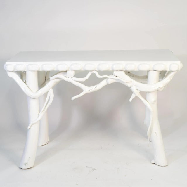 1990s White Lacquered Root Console For Sale - Image 12 of 12