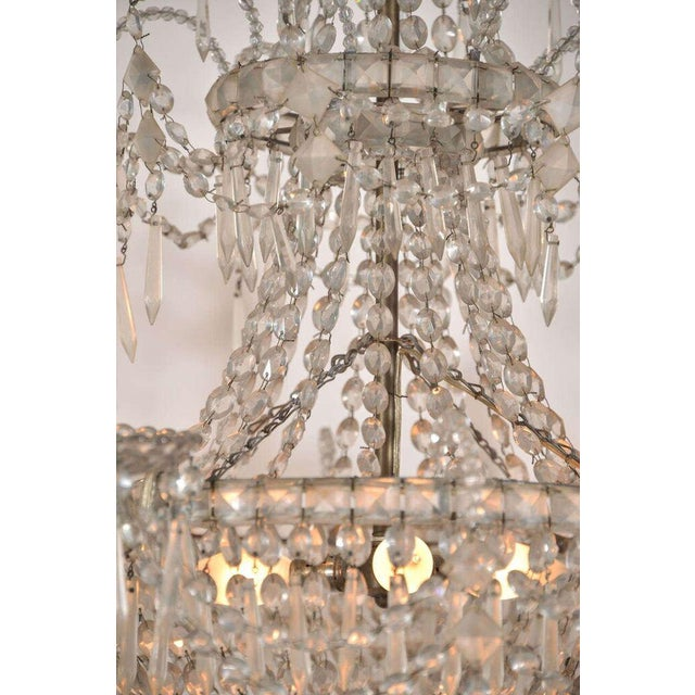 Seven-Light Crystal Chandelier For Sale In Houston - Image 6 of 10