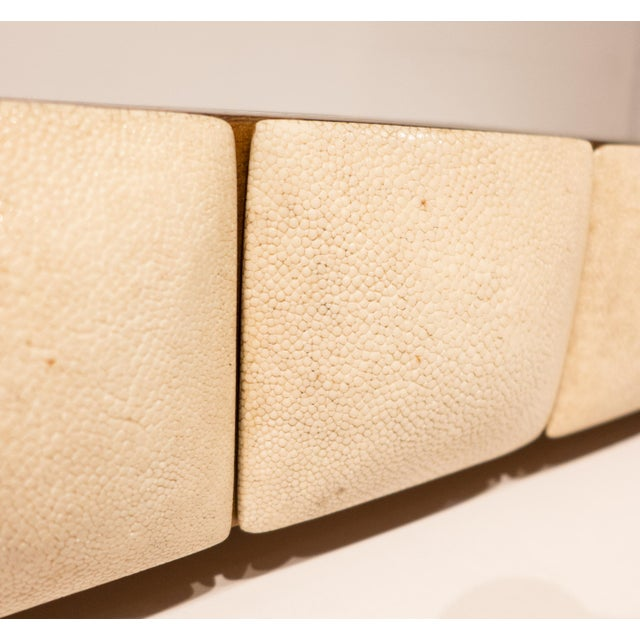 White R & Y Augousti Jewelry Box with Shagreen Fronts For Sale - Image 8 of 9