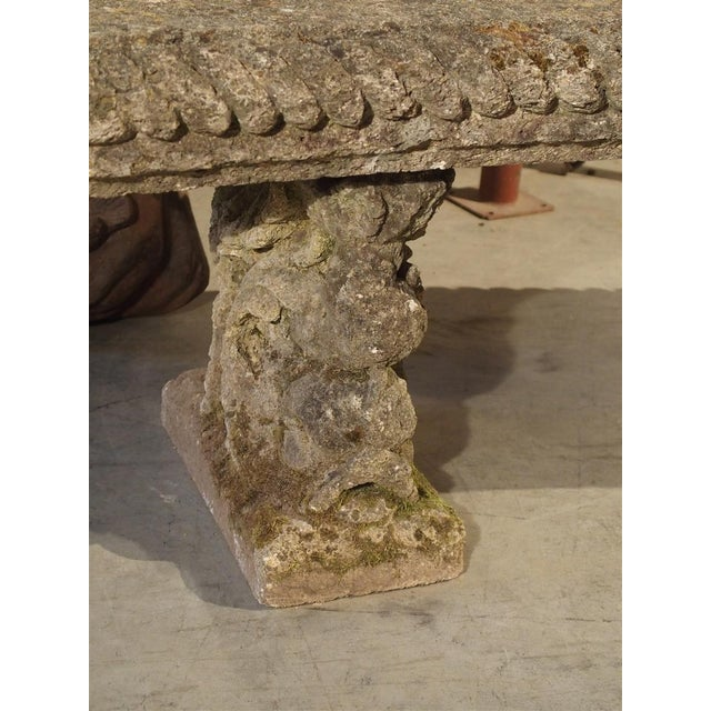 Circa 1900 Reconstituted Stone Dolphins Bench From France For Sale - Image 11 of 13