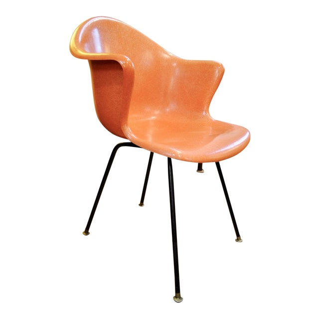 Mid Century Modern Fiberglass Shell Armchair by Cole Steel Co.-1950's For Sale