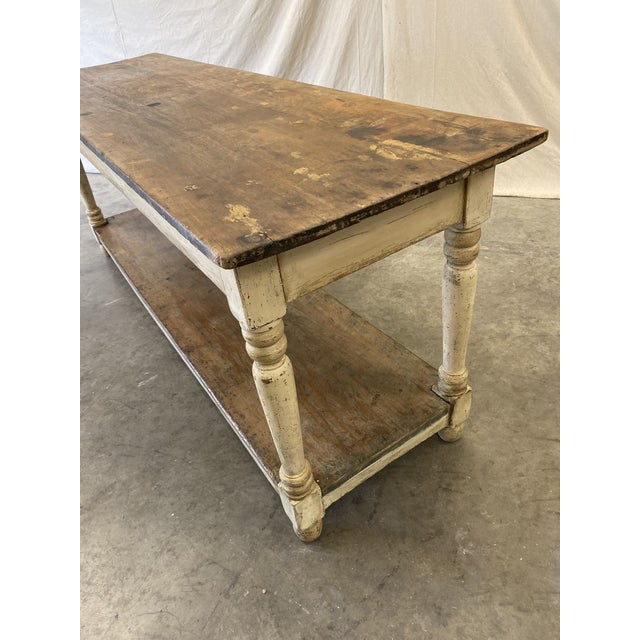 Rustic French Farm Console Table - 19th C For Sale - Image 11 of 12