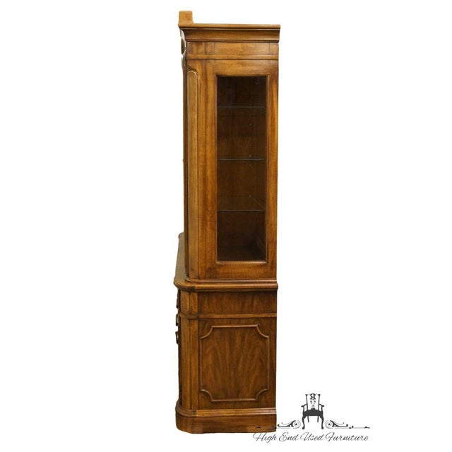 """Thomasville Furniture Contessina Collection 72"""" Lighted China Cabinet For Sale - Image 9 of 13"""